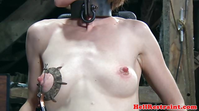 Preview 1 of Bondage sub dominated by electro nippleplay
