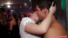 Euro amateur fingered on dancefloor before bj