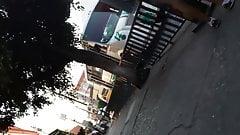 CULO CON HAMBRE PARADA BUS ESTUDIANTE