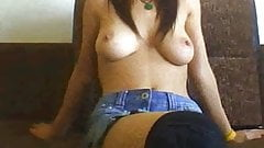 Hot Turkish Student Love To RIDE A Dildo