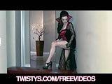 Twistys - Sexy Halloween Vampire Taylor Vixen masturbates