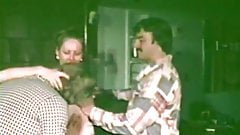 Hairy Waitress Sex Servicing two Guys (1970s Vintage)