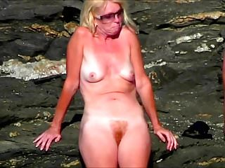 Beach mature - Spy beach mature busty milfs and saggy grannys compilation