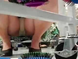 Squatting Upskirt In Store