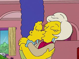 The Simpsons - Lindsey Naegle Kiss Marge Simpson