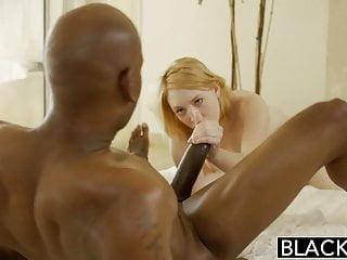 BLACKEDBlonde Babysitter Trillium Fucks her Black Boss