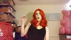 Red head cd smoking