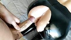 Leather leggings fuck