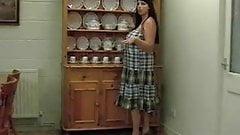 bbw mature shows in kitchen