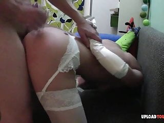 Amateur Wife In Stockings Gets Fucked Hard