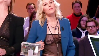 FLORENCE THOMASSIN French Actress See Through Public tv show