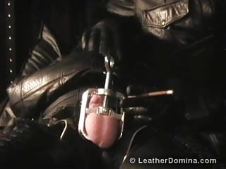 The Leather Domina - Cock and Ball Torture