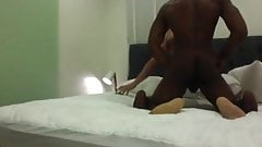 Muscled boy in stockings & garter gets pounded
