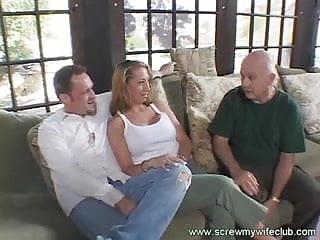 Darn sexy - Wife screwed with three darn hard cocks