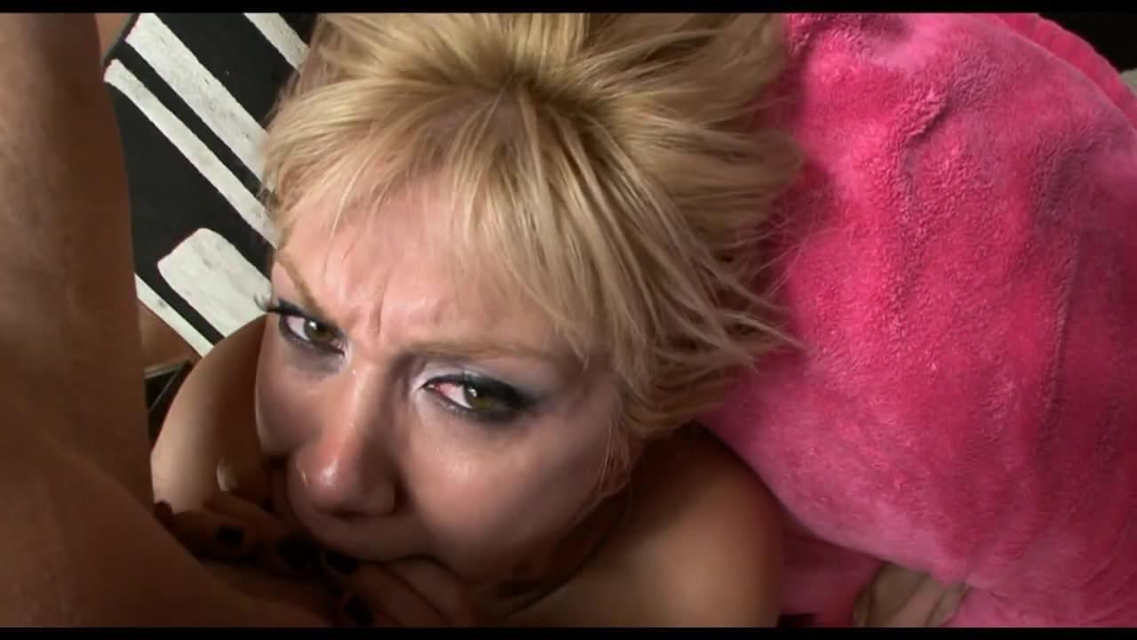 Blonde sucks cock slow, good and sensual (no cum)