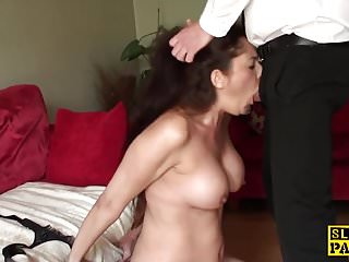 UK sub throatfucked before spunked in mouth