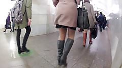 boots in pantyhose