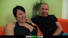 Brunette bbw picked up and fucked