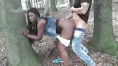 Ebony Wife Fucked Outdoor By White Dick Cuckold Film