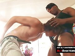 Horny long haired surfer taking a long ride on hard BBC