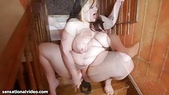 bbw Emma Bailey in Stair Case Stuffing