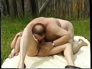Oldies outdoor orgy