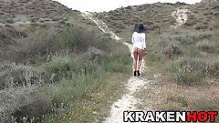 Krakenhot - Hot redhead milf in outdoor BDSM exclusive video