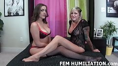 Humiliating our cum eating bisexual slave