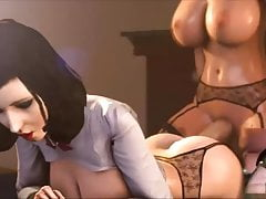 3D Futanari Scene Collection 1