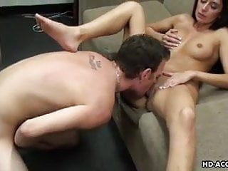 Bouncing on a dick with a smile on her face
