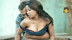 Beautiful tamil girl romance and Hot boobs pressing in park