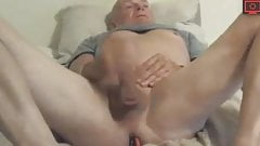 old man hot self-satisfaction