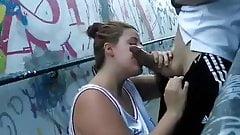Blowjob on the street