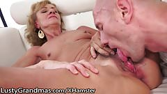 LustyGrandmas Hairy Granny Eaten and Drilled to Satisfaction