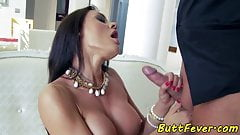 Bigtitted eurobabe anally pounded by her bf