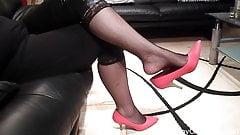 Naomi red shoeplay