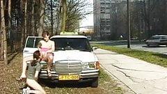 taxi fuck on public street