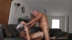 Landon Takes Daddy Woods Raw