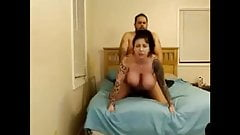 Busty tattooed girl gets fucked on cam