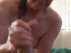 Grandma gets her cum fix