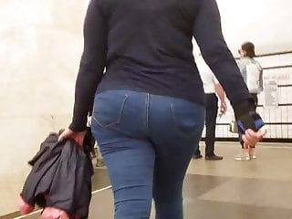 MILF with massive ass in jeans