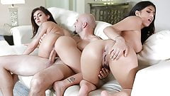 StepSiblings - Step Sisters Fuck Boss For Job's Thumb