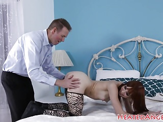 Cute alt babe gets drilled in tight asshole