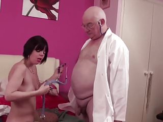 English women suck old fat cock