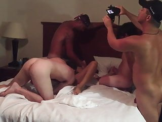Hubby and friends gangbang his wife