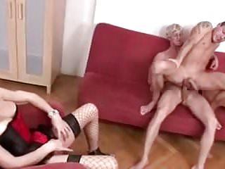 She loves watching gay fucking