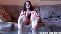 Pamper my feet and suck on my sweet little toes