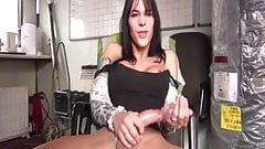 Shemale cumming and eating it 4