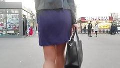 Good ass in short skirt