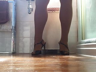 Sunday afternoon stockings high heels cum on floor